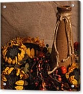 Sunflowers And Vase Acrylic Print