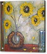 Sunflowers Acrylic Print by Elena  Constantinescu