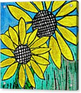 Sunflowers For Fun Acrylic Print