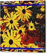 Sunflowers In The Park Acrylic Print
