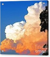 Sunkissed Storm Cloud Acrylic Print