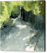 Sunlight And Foliage Conservatory Garden Central Park Watercolor Painting Acrylic Print