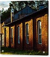 Sunlight On Old Brick Building - Ellensburg - Washington Acrylic Print
