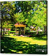 Sunlit Gazebo Acrylic Print