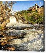 Sunlit Rapids In Glacier Acrylic Print