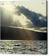 Sunlit Rays Before Sunset Acrylic Print