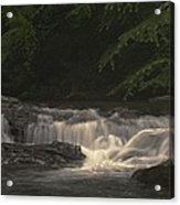 Early Morning Sunlit Waterfall Acrylic Print