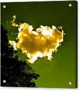 Sunlit Yellow Cloud Acrylic Print