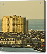 Sunny Day In Atlantic City Acrylic Print by Trish Tritz