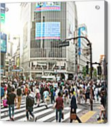 Sunny Day In Shibuya Acrylic Print