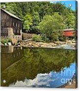 Sunny Days At Mcconnells Mill Acrylic Print