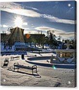 Sunny In The Snow Acrylic Print