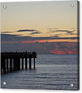 Sunny Isles Fishing Pier Sunrise Acrylic Print