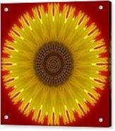 Sunny Kaleidoscope Acrylic Print