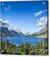 Sunny Saint Mary Lake Acrylic Print