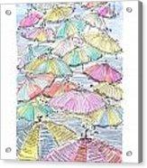 Sunny Umbrelas Acrylic Print
