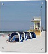Sunnyday At Clearwater Beach Acrylic Print