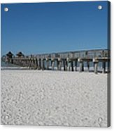 Sunny Day At Naples Pier Acrylic Print