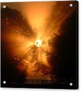 Sunrays Sunrise On Lake Oconee Acrylic Print