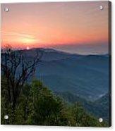 Sunrise Along The Blue Ridge Acrylic Print