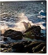 Sunrise And Surf Acrylic Print by David Pinsent