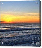 Sunrise And Waves Acrylic Print