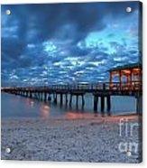 Sunrise At Anglin's Fishing Pier Acrylic Print