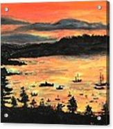 Sunrise At Bar Harbor Maine Acrylic Print