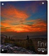 Sunrise At Bear Rocks In Dolly Sods Acrylic Print by Dan Friend