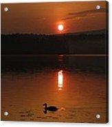 Sunrise At Canaan Street Lake Acrylic Print