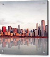Sunrise At Chicago Acrylic Print