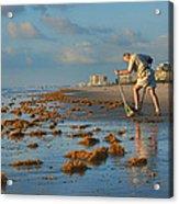 Sunrise At Cocoa Beach Acrylic Print