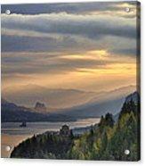 Sunrise At Columbia River Gorge Acrylic Print