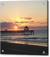 Sunrise At Folly Beach Acrylic Print by Paula Rountree Bischoff