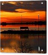 Sunrise At Jackson Acrylic Print