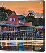Sunrise At Lulu's Acrylic Print by Michael Thomas