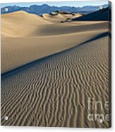 Sunrise At Mesquite Flat Sand Dunes Acrylic Print