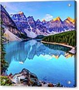 Sunrise At Moraine Lake Acrylic Print