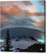 Sunrise At Mount Hood   Acrylic Print