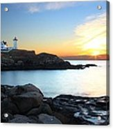 Sunrise At Nubble Acrylic Print by Andrea Galiffi