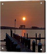 Sunrise At Piney Point Maryland Acrylic Print