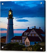 Sunrise At Portland Head Lighthouse Acrylic Print by Diane Diederich
