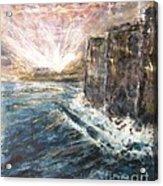 Sunrise At Tal-gurdan Cliffs Acrylic Print by Marco Macelli