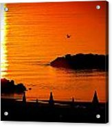 Sunrise At The Adriatic Sea Acrylic Print by Matteo Musso
