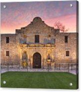 Sunrise At The Alamo San Antonio Texas 1 Acrylic Print