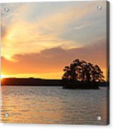 Sunrise At The Lake Acrylic Print