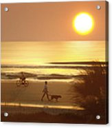 Sunrise At Topsail Island 2 Acrylic Print by Mike McGlothlen