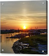 Sunrise At Two Mile Inlet - Wildwood Crest Acrylic Print