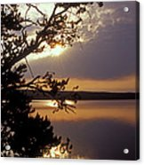 Sunrise At Yellowstone Lake Acrylic Print