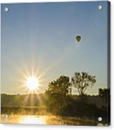 Sunrise Balloon Ride Over Lake Nockamixon Acrylic Print